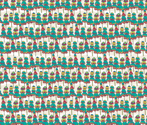 Joyful Pine Trees fabric by joyfulroots on Spoonflower - custom fabric