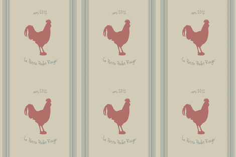 french feed sack rooster pillow fabric by littlerhodydesign on Spoonflower - custom fabric