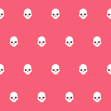 Skull Dot 1 fabric by jadegordon on Spoonflower - custom fabric