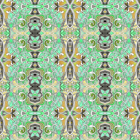 Honeysuckle Paisley vertical stripe fabric by edsel2084 on Spoonflower - custom fabric