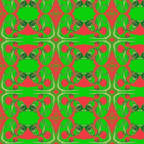 """organic-a"" with Red and Green"