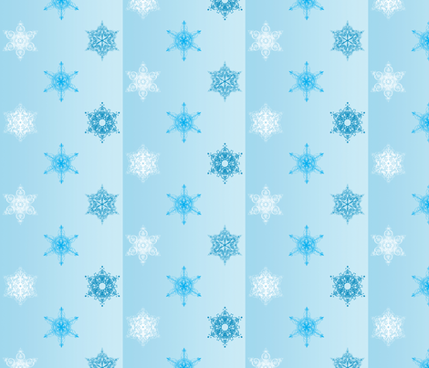 Snowflakes fabric by smart_cats on Spoonflower - custom fabric