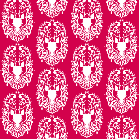 Deer Damask 2 fabric by jadegordon on Spoonflower - custom fabric