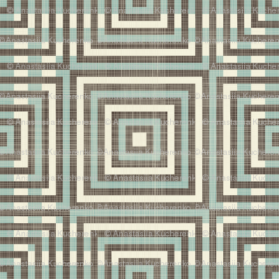 retro geometric pattern