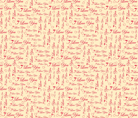 I love you pattern fabric by anastasiia-ku on Spoonflower - custom fabric