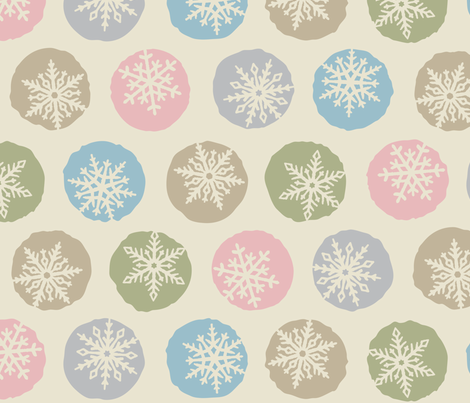 Snowflakes fabric by fattcheese on Spoonflower - custom fabric