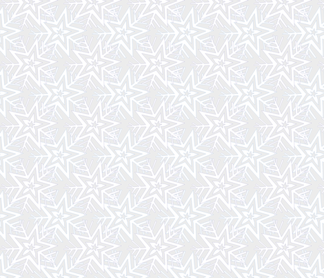 Almost a Snowflake fabric by linsart on Spoonflower - custom fabric