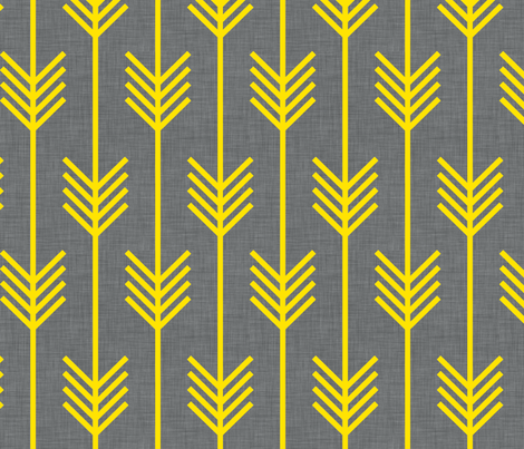 arrows_gray_and_yellow fabric by holli_zollinger on Spoonflower - custom fabric