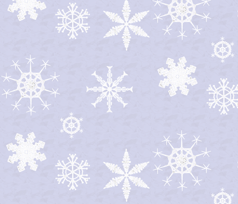 Schizoclectic Snowflakes fabric by schizoclectic on Spoonflower - custom fabric
