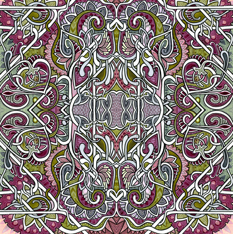 Tendrils and Paisley Love fabric by edsel2084 on Spoonflower - custom fabric