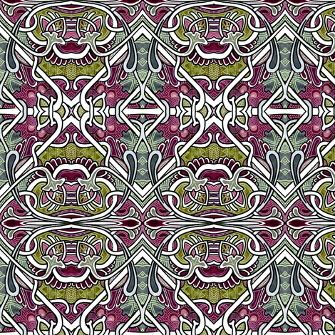 The BIG One (an abstract pseudo floral patchwork in large size) fabric by edsel2084 on Spoonflower - custom fabric