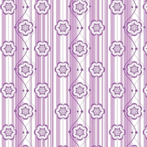 Monochrome floral - Purple