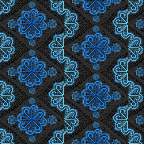 blue pinwheel lace fabric by y-knot_designs on Spoonflower - custom fabric