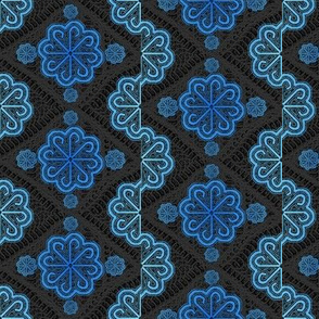 blue pinwheel lace