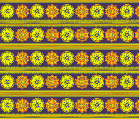 Exotic Marigold Panel fabric by elarnia on Spoonflower - custom fabric