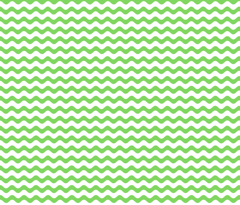 rickrack green fabric by myracle on Spoonflower - custom fabric