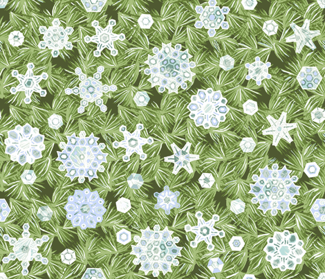 Translucent Snowflakes fabric by khowardquilts on Spoonflower - custom fabric