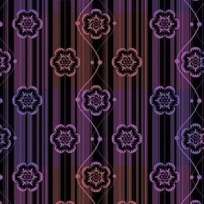 Purple neon floral