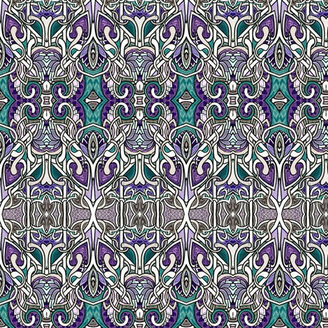 Knights of the Zig Zag Stripe Artichoke Coloring Book fabric by edsel2084 on Spoonflower - custom fabric