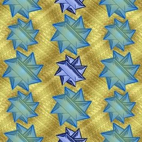 blue stars on gold 1