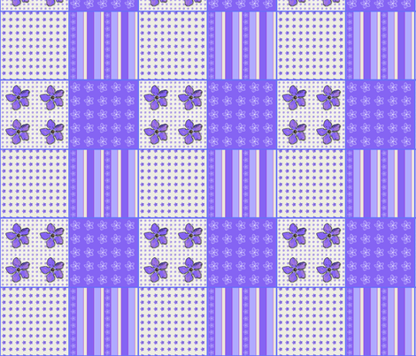 Periwinkle Coordinate fabric by koalalady on Spoonflower - custom fabric