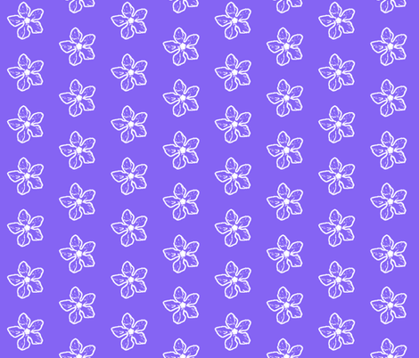 Periwinkle Sketch fabric by koalalady on Spoonflower - custom fabric