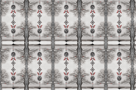 Winter Gothic fabric by novelatelier on Spoonflower - custom fabric