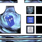 TARDIS Apron &amp; Pot Holder Set