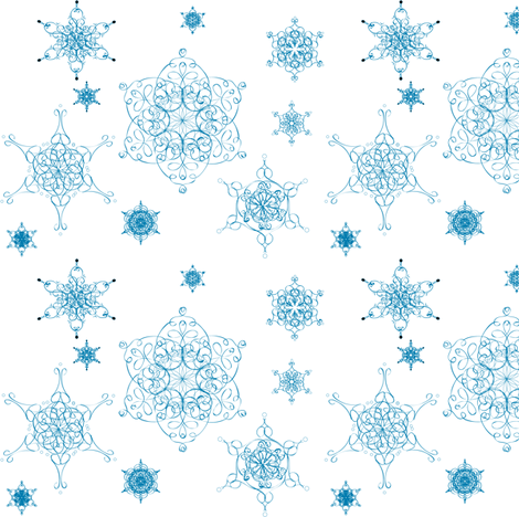 Ornate_snowflakes fabric by faefall on Spoonflower - custom fabric