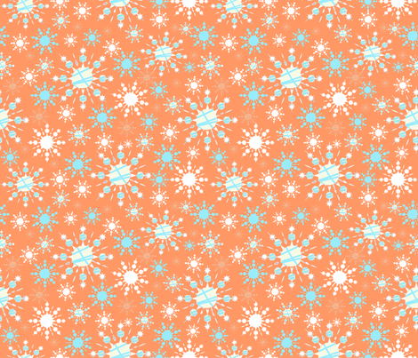 Orange Blizzard fabric by arttreedesigns on Spoonflower - custom fabric
