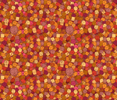 Dice Galore - Fire fabric by pi-ratical on Spoonflower - custom fabric