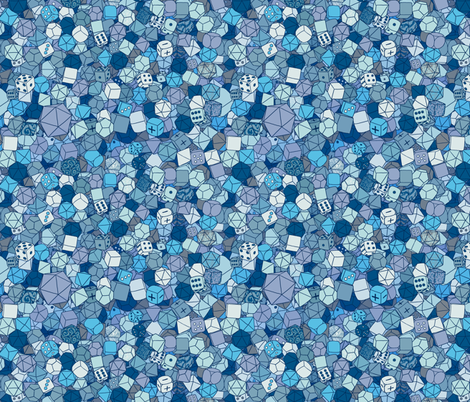 Dice Galore - Ice fabric by pi-ratical on Spoonflower - custom fabric