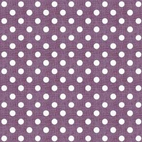 Vintage Violet Polka Dots