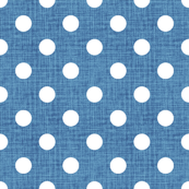 Vintage Cobalt Polka Dots