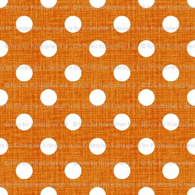 Vintage Pumpkin Polka Dots