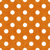 Vintage Pumpkin Polka Dots