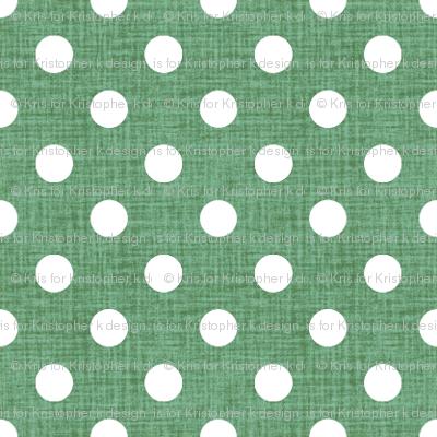Vintage Jade Polka Dots