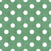 Vintage Jade Polka Dots