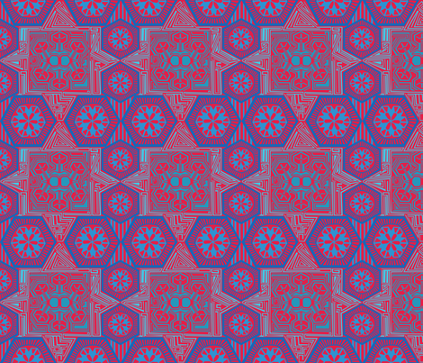 Mosaic Snow Jewels fabric by rubydoor on Spoonflower - custom fabric