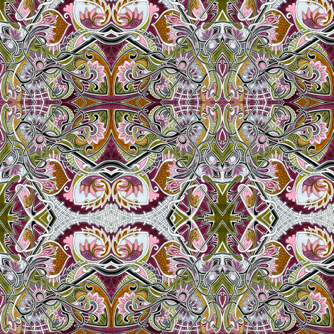 Alice Said Wonderland Would Be This Way fabric by edsel2084 on Spoonflower - custom fabric