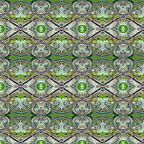 Seventies Avocado Green Rococo fabric by edsel2084 on Spoonflower - custom fabric