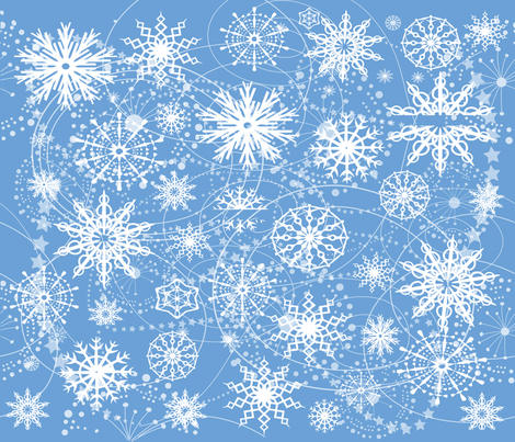 Little Flakey Christmas fabric by deeniespoonflower on Spoonflower - custom fabric