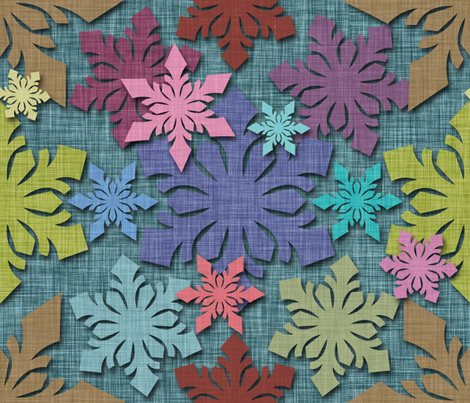 SnowFlakes fabric by cassiopee on Spoonflower - custom fabric