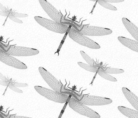 Griffinfly Greys fabric by shelleymade on Spoonflower - custom fabric