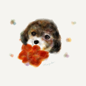 Winter dog watercolor mini
