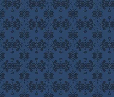 Matisse Wallpaper - Navy fabric by dianef on Spoonflower - custom fabric