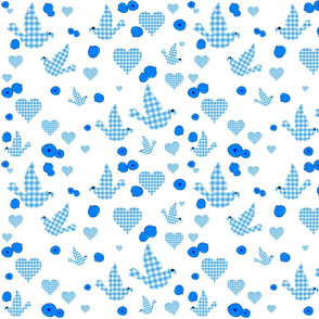 GINGHAM BLUEBIRDS AND BLUEBERRIES