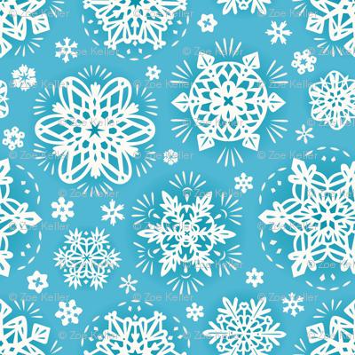 ZoeKeller_SnowflakePapelPacado