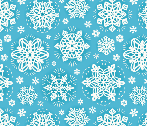 ZoeKeller_SnowflakePapelPacado fabric by zoekellerdesign on Spoonflower - custom fabric
