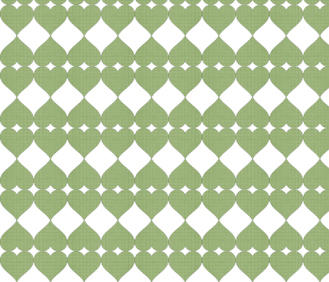 GINGHAM LOVE DIAMONDS fabric by bluevelvet on Spoonflower - custom fabric